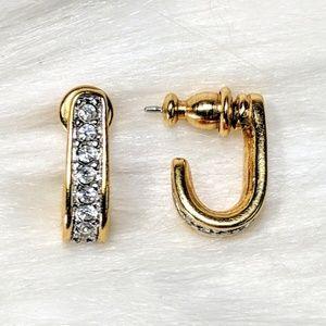 Jewelry - Tiny Channel Set Huggie Hoops